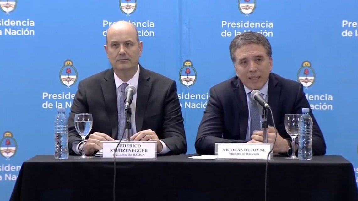 Federico Sturzenegger y Nicolás Dujovne