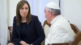 María Eugenia Vidal y el Papa Francisco