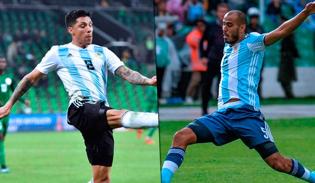 Enzo Pérez y Guido Pizarro luchan por el lugar de Manu Lanzini