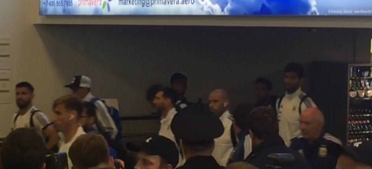 La llegada de la Selección argentina a Rusia