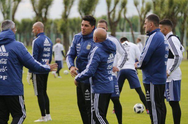 Enzo Pérez y Messi en la Selección - Crédito: @Argentina<div><br></div>