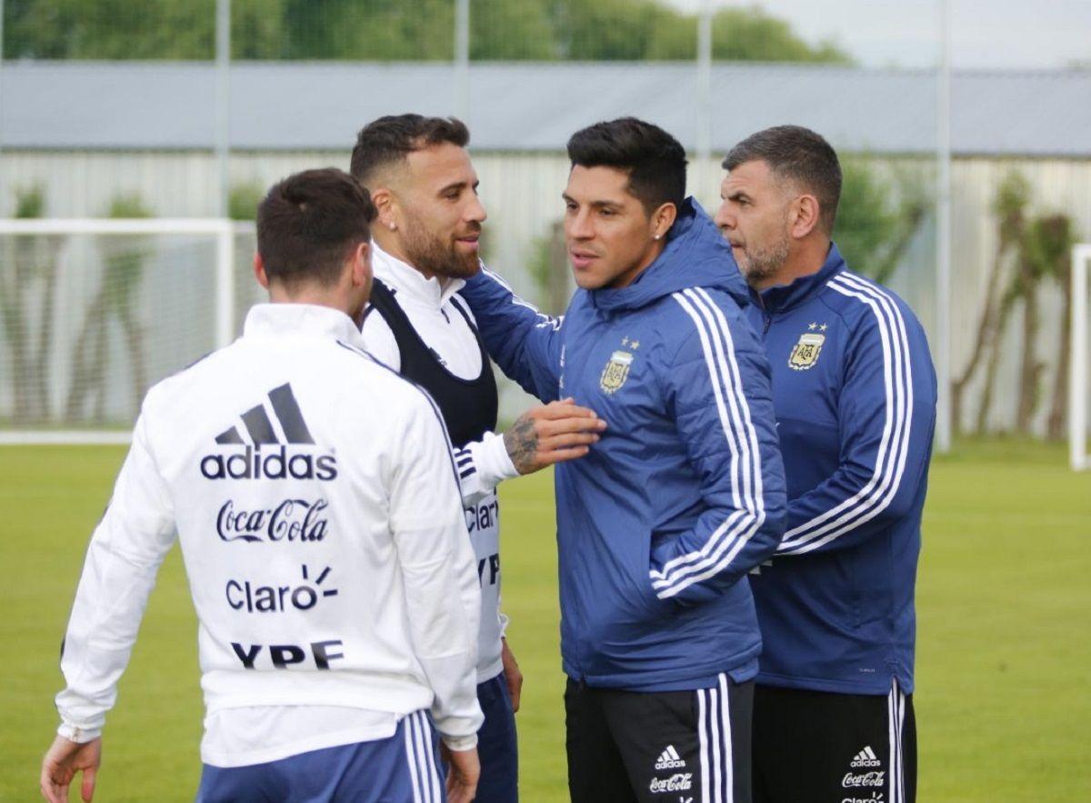 Enzo Pérez y Messi en la Selección - Crédito: @Argentina