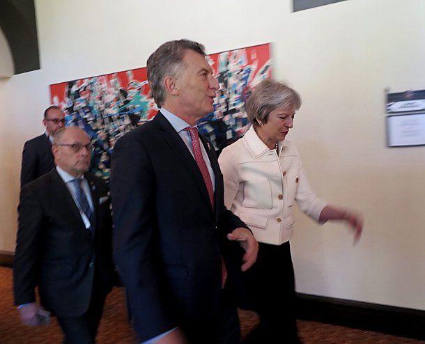 El presidente Mauricio Macri y la primera ministro del Reino Unido, Theresa May,