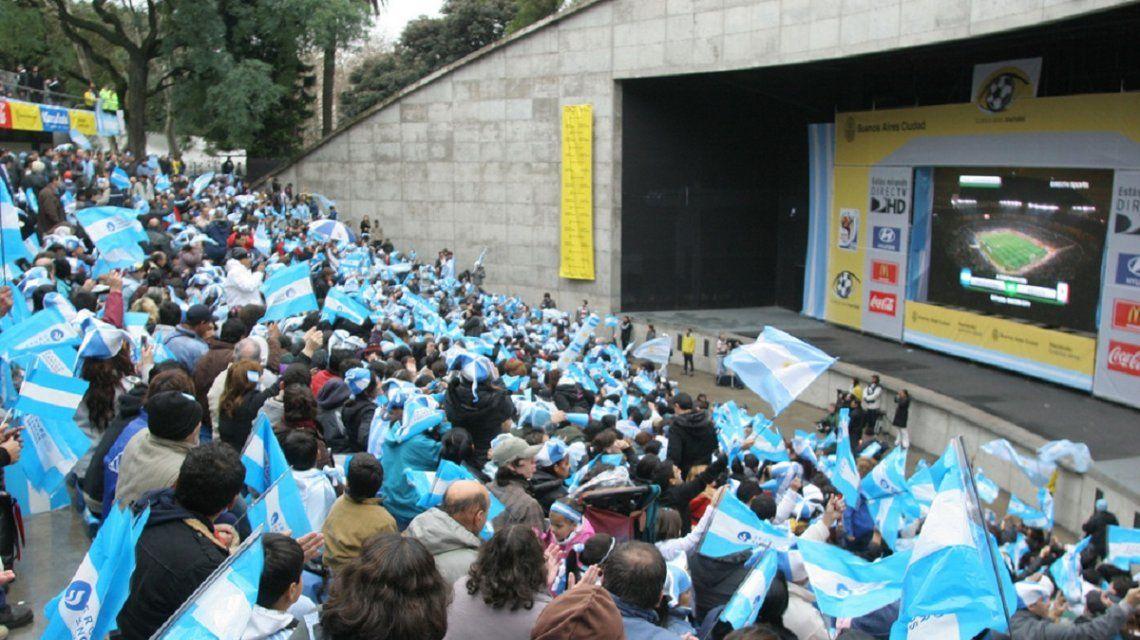 El Fan Fest de Parque Centenario en 2014