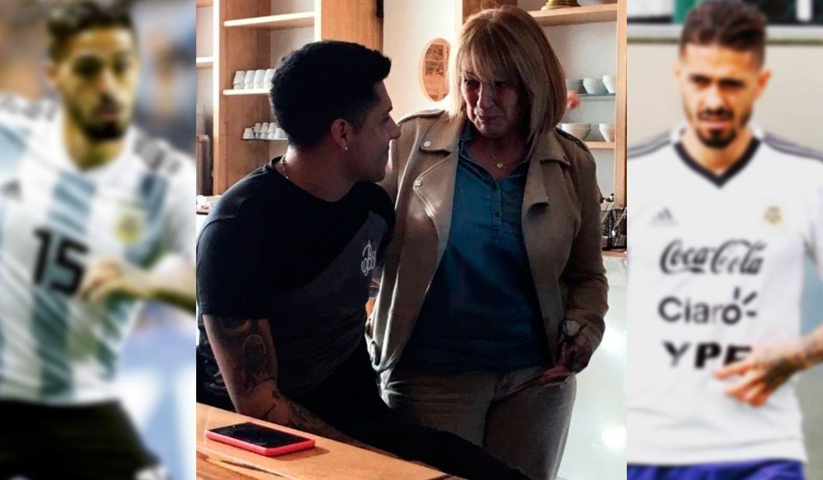 El encuentro más emotivo: Enzo Pérez se cruzó a la mamá de Lanzini en Ezeiza