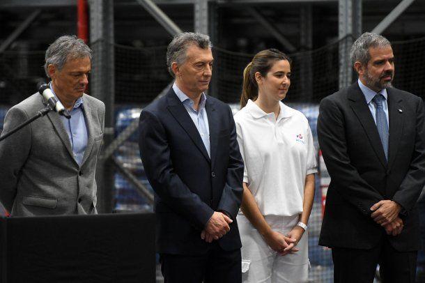 <div>Macri visitó la planta industrial Lucchetti, en el partido bonaerense de Malvinas Argentinas.</div>
