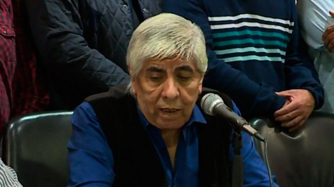 Hugo Moyano, duro contra el Gobierno: Quieren tapar el hambre con cosas que inventan
