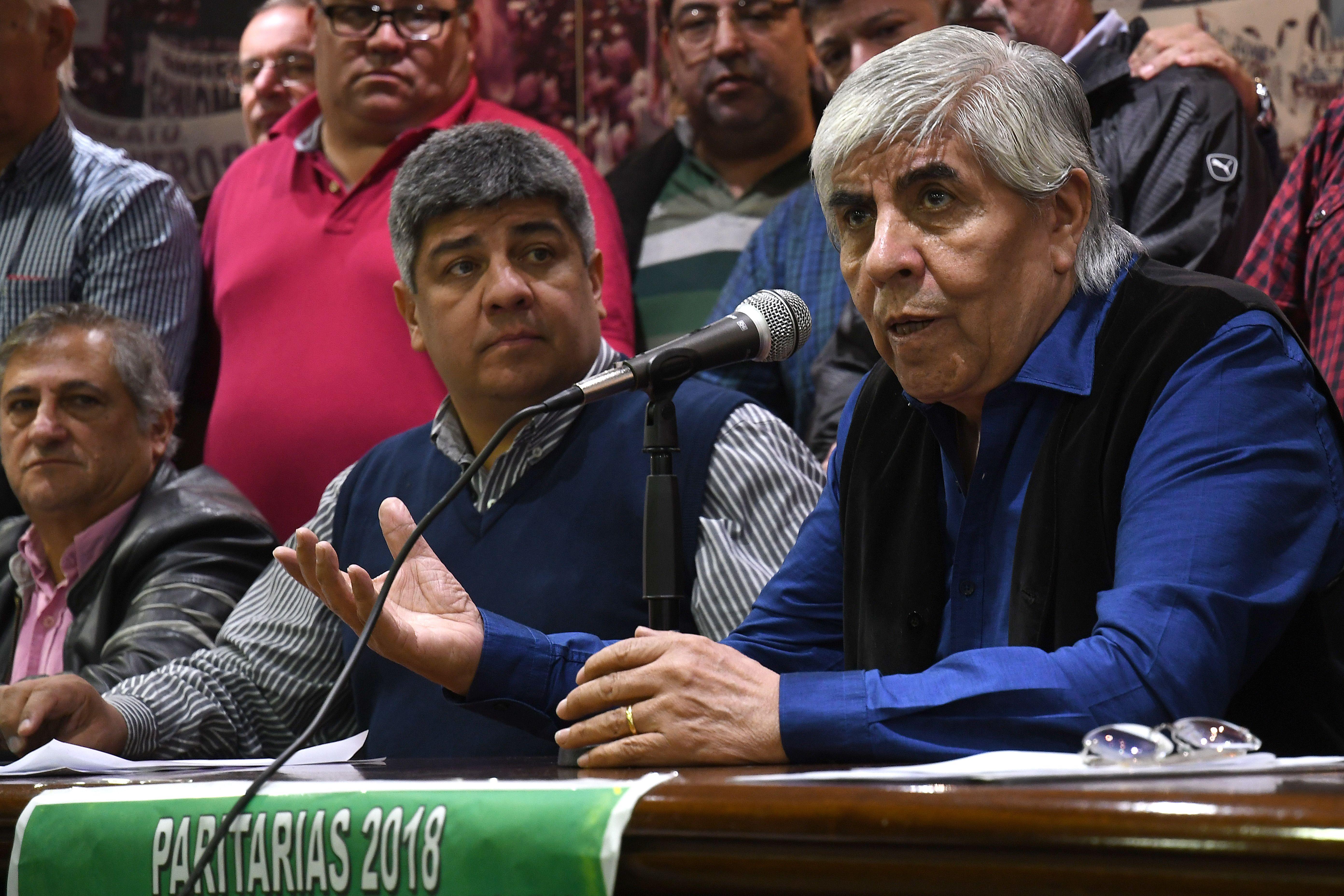 Moyano llama a rechazar el diálogo con el Gobierno tras el paro general de la CGT