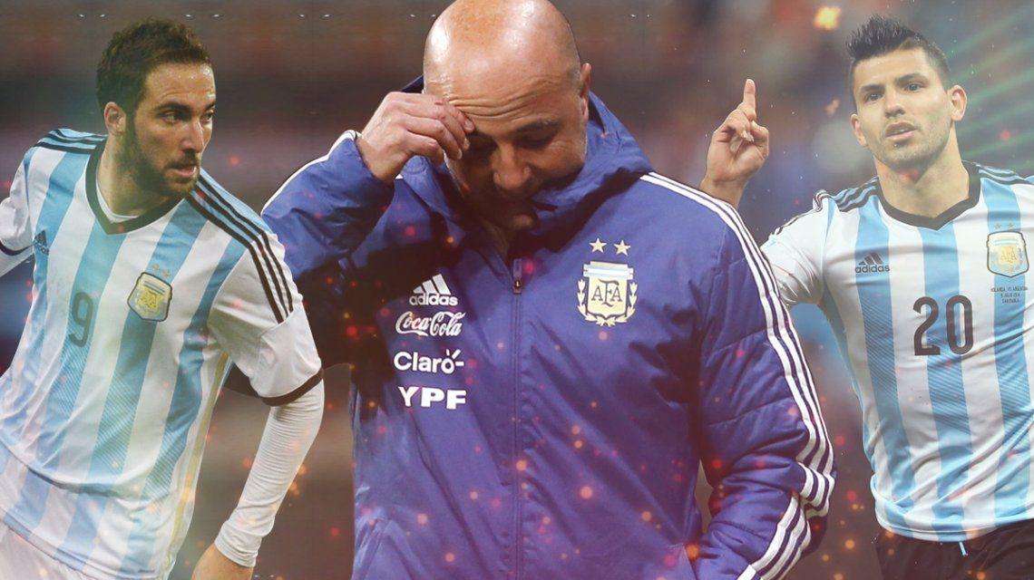 La duda de Sampaoli: ¿Higuaín o Agüero para enfrentar a Islandia?