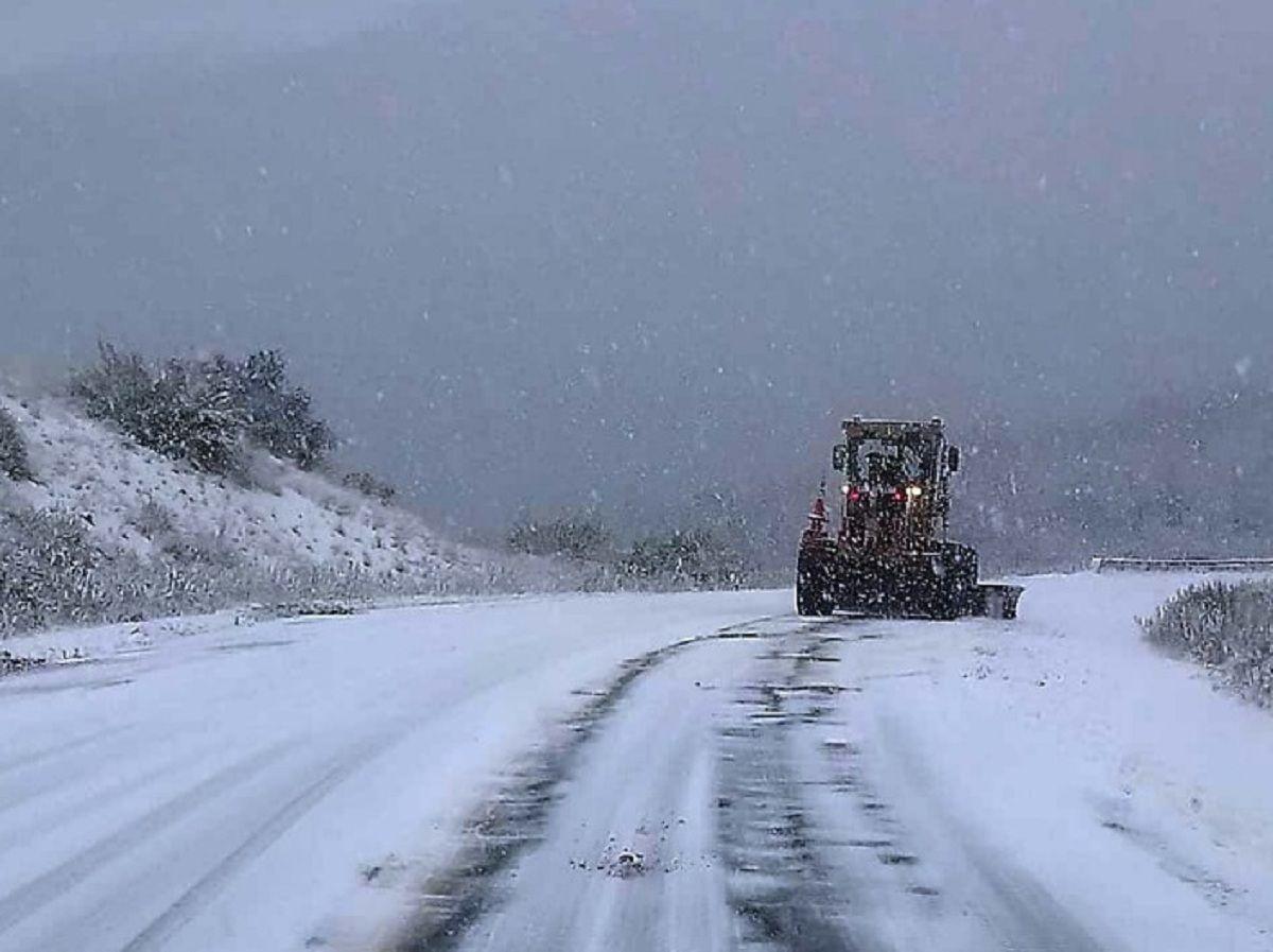 Temporal de nieve en Río Negro - Crédito: @Splif_RN