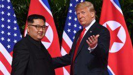 Kim Jong-Un y Donald Trump se encontraron en Singapur