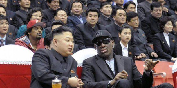 Kim Jong-Un y Dennis Rodman en Corea del Norte<br>