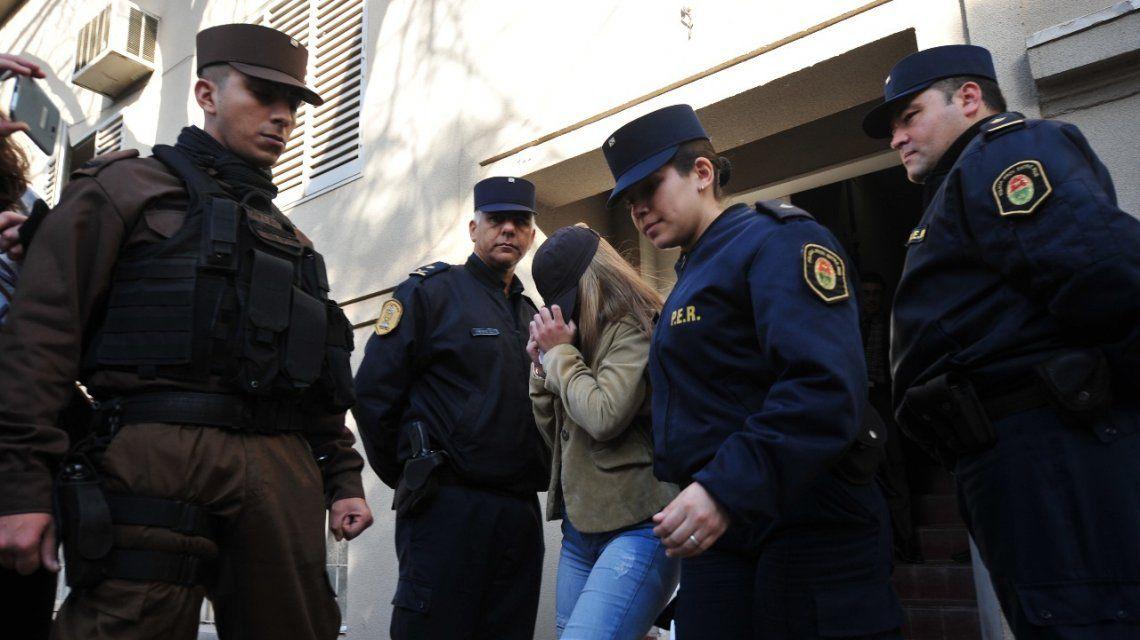 Nahir Galarza abandona los Tribunales de Gualeguaychú