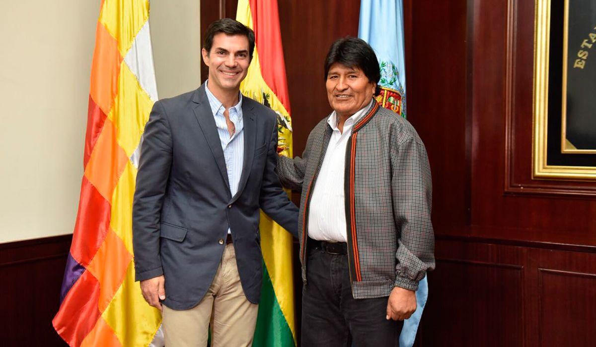 El gobernador Urtubey visitó a Evo Morales
