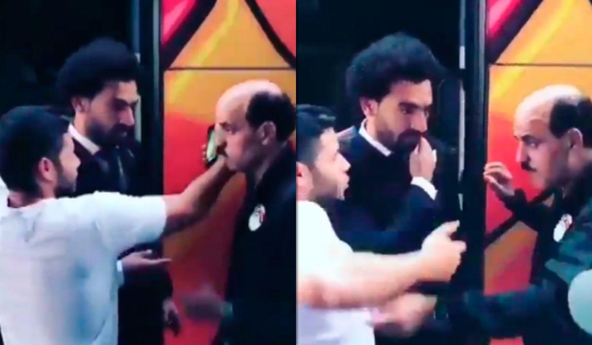 A Salah le tocaron el hombro lesionado para una foto: su reacción es imperdible