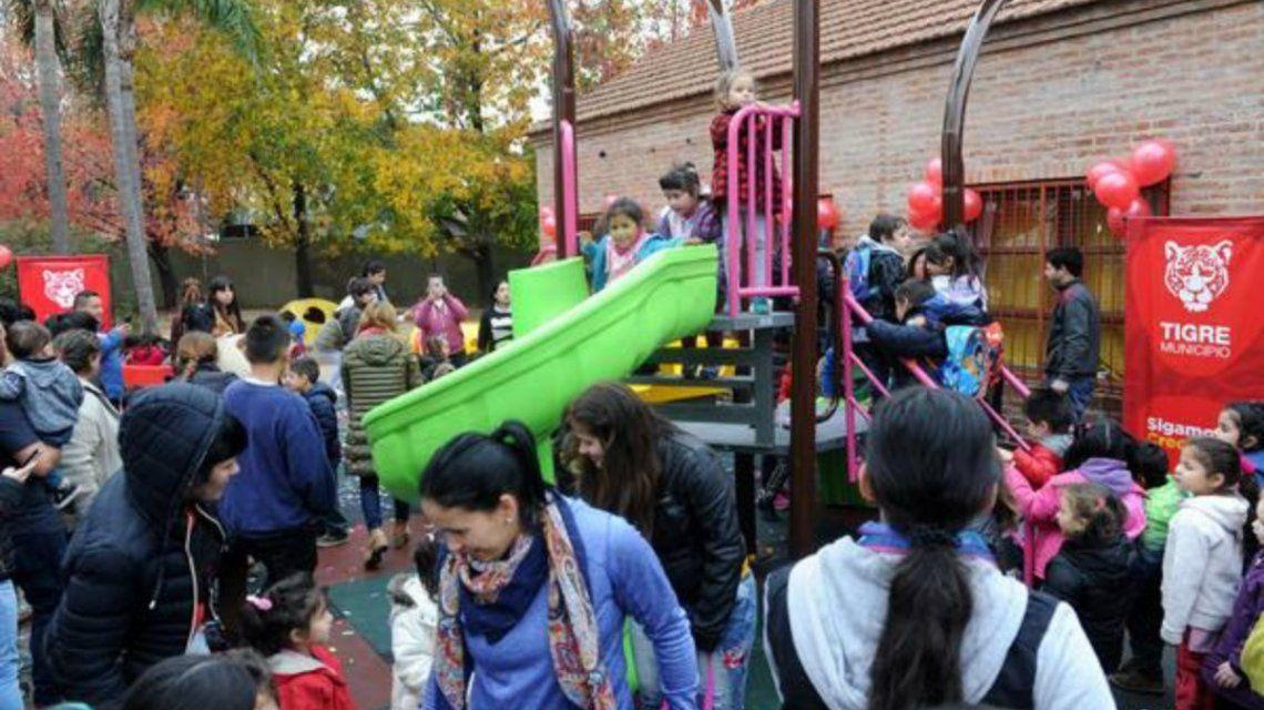 Se inauguró el nuevo espacio de juegos del jardín Nº 902 de Tigre