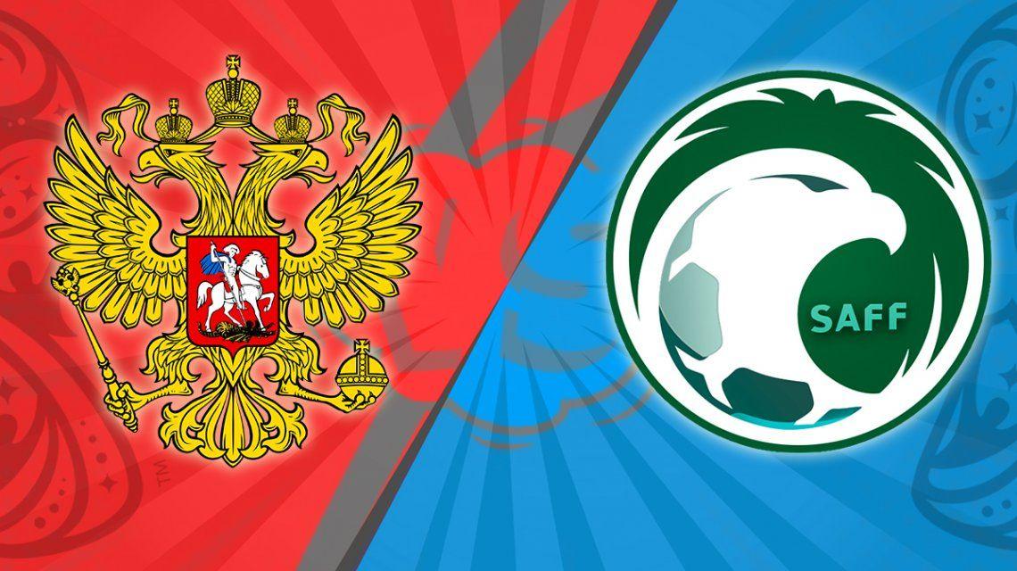 Rusia - Arabia Saudita, por el Grupo A del Mundial: horario, formaciones y TV