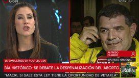 Daniela Ballester y Alfredo Olmedo se cruzaron en el aire de C5N
