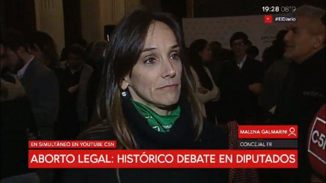 Malena Galmarini sopesó la decisión de los legisladores del Frente Renovador