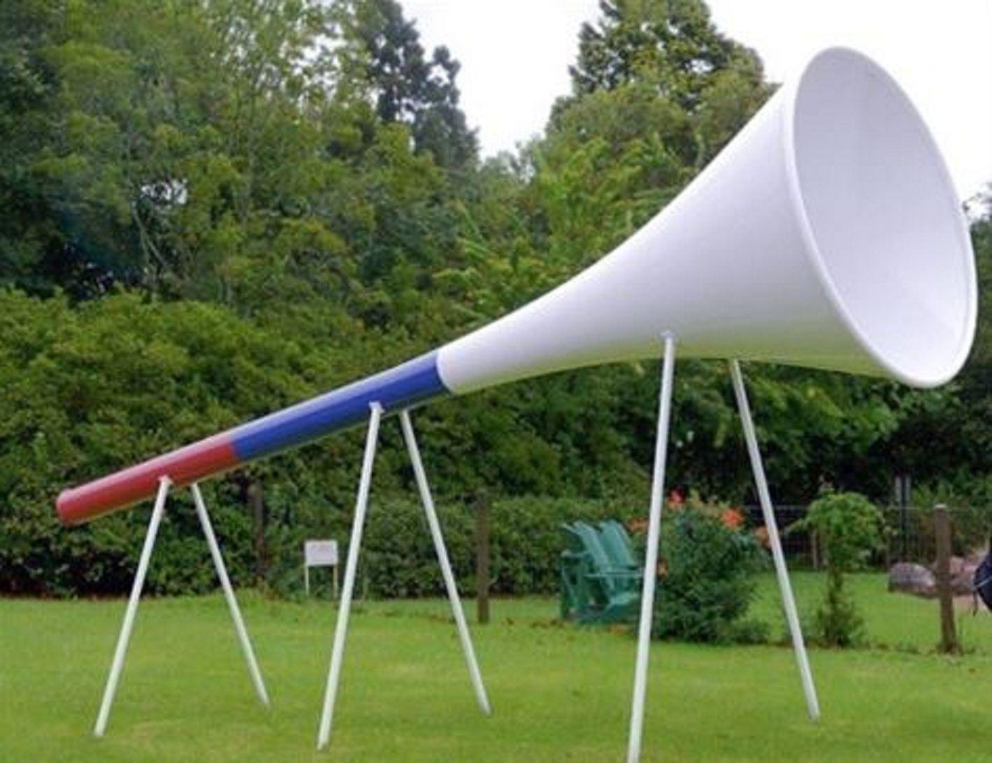 La vuvuzela gigante se activará con el inicio del Mundial