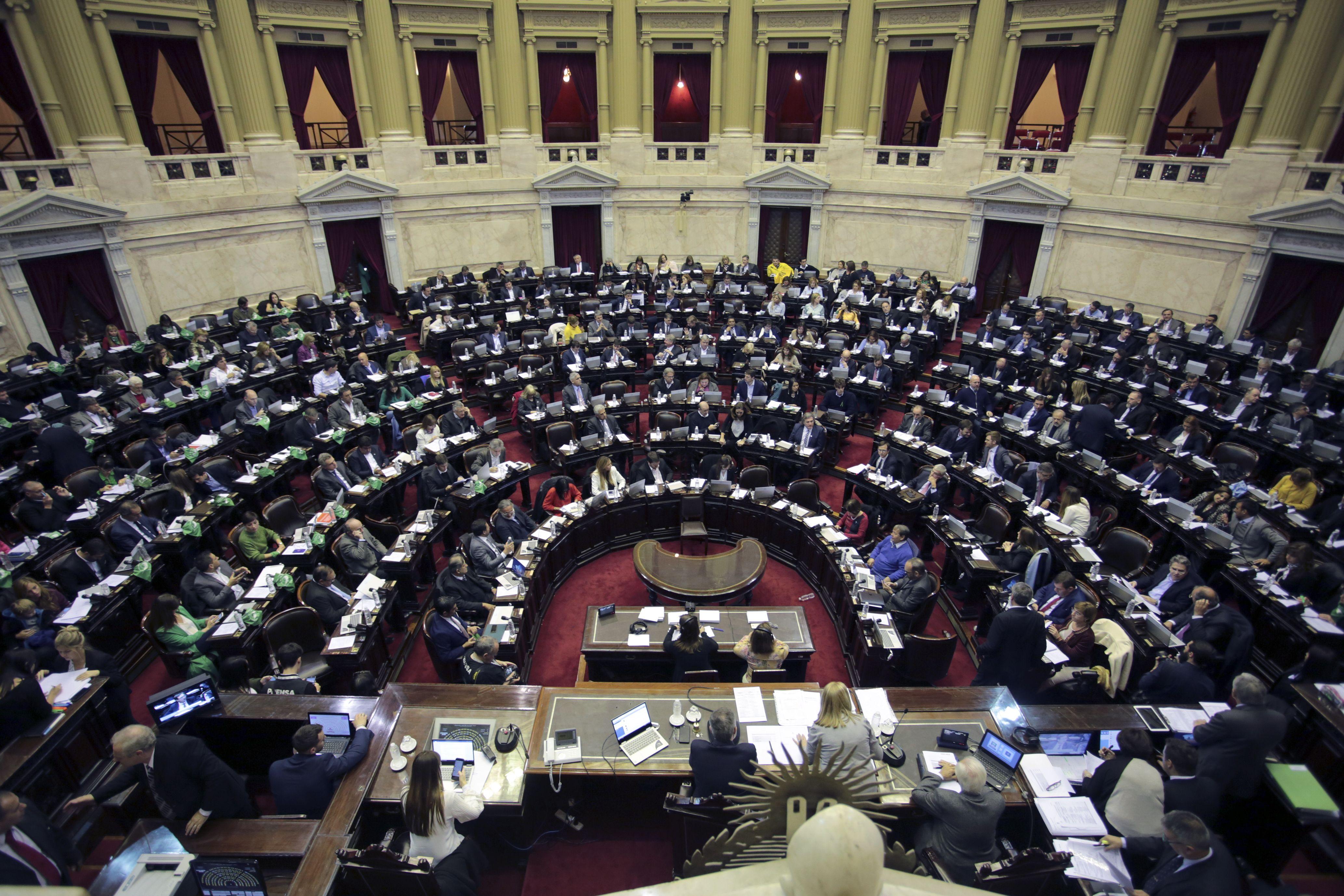 Así estaba la Cámara de Diputados en medio del debate por la despenalización del aborto