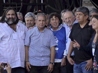Baradel, Palazzo, Micheli, Yasky y Pablo Moyano