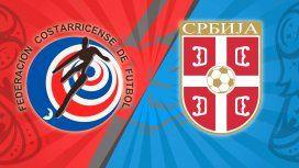 Costa Rica vs. Serbia por el Grupo E del Mundial: horario