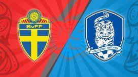 Suecia vs. Corea del Sur por el Grupo F del Mundial: horario