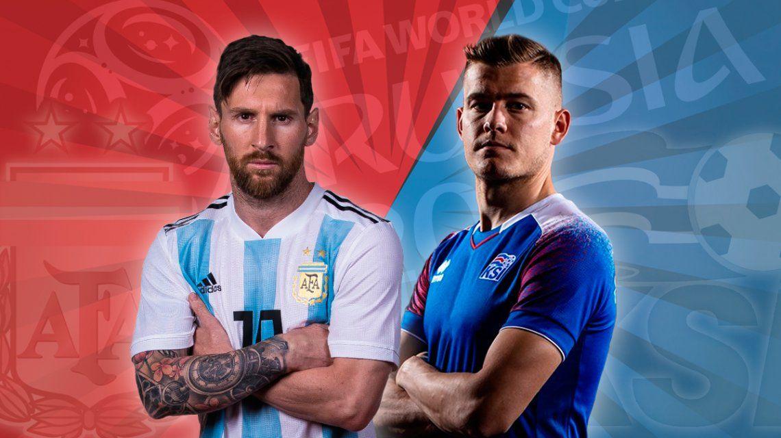 Argentina - Islandia, por el Grupo D del Mundial: horario, formaciones y TV