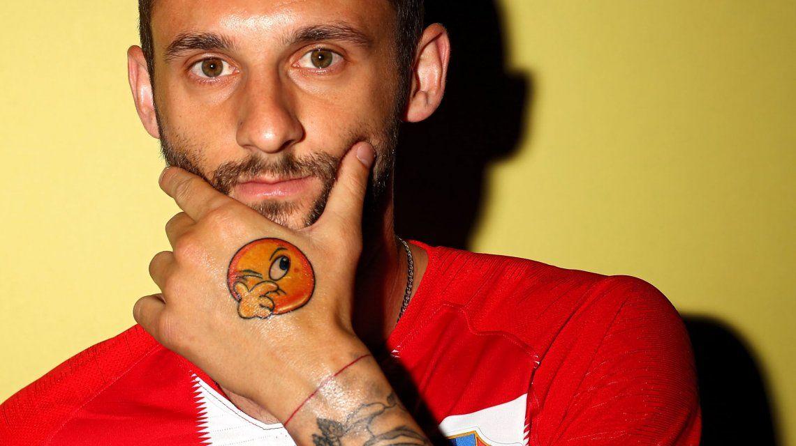 El insólito tatuaje deMarcelo Brozovic (Foto: FIFA.com)
