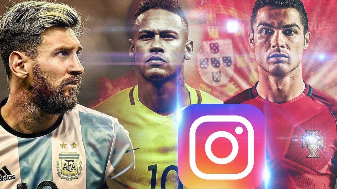 Los jugadores del Mundial más seguidores en Instagram