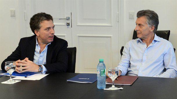Nicolás Dujovne y Mauricio Macri<br>