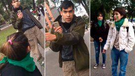 El joven increpó a unas chicas que estaban festejando la media sanción del proyecto de aborto legal