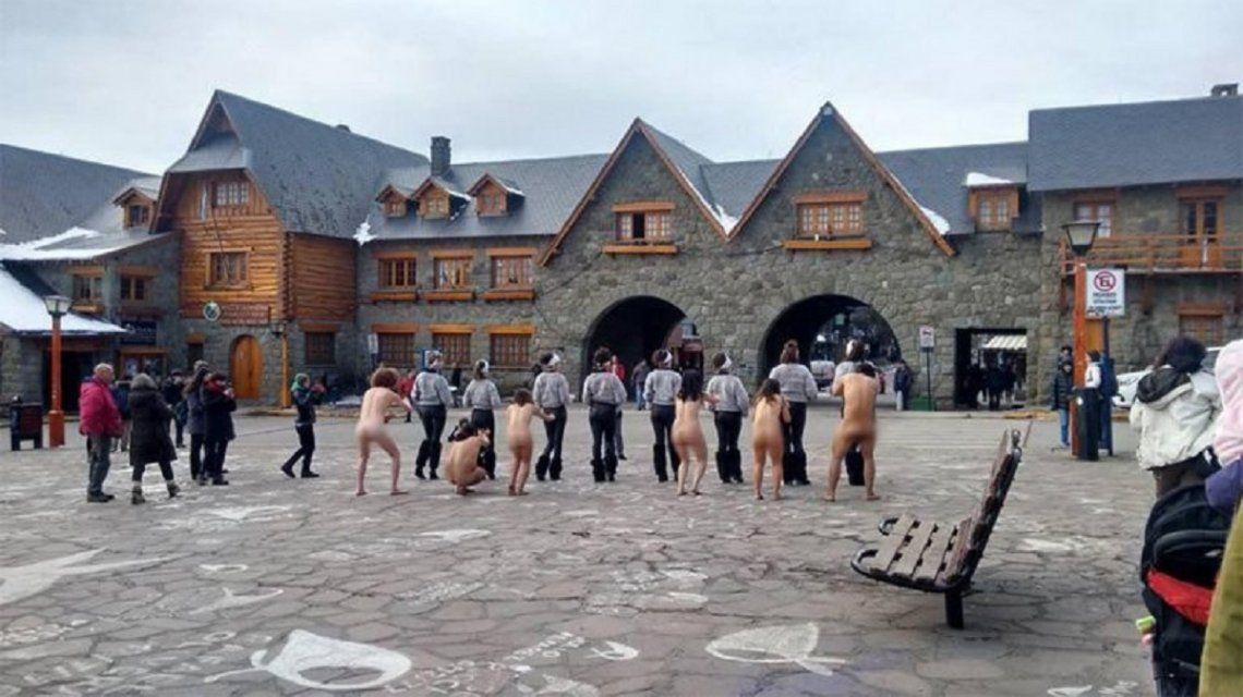 Protesta contra el G20 en Bariloche - Crédito: lmneuquen.com