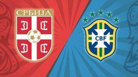 Serbia quiere entrar en la historia eliminando a Brasil