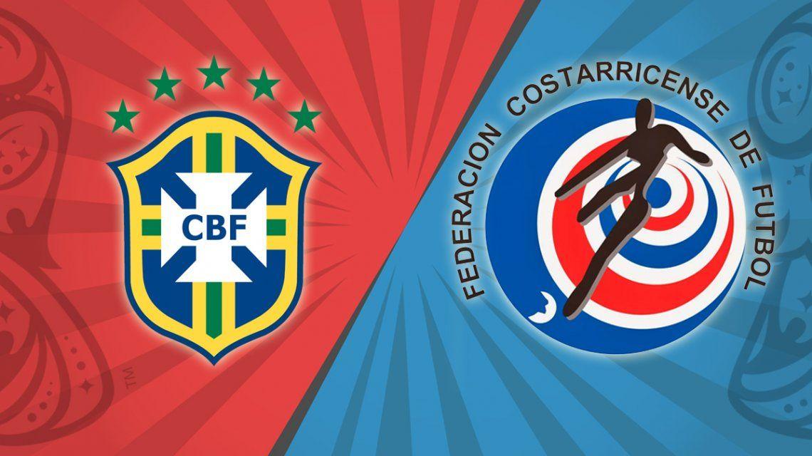 Brasil vs. Costa Rica por el Grupo E del Mundial: horario, formaciones y TV