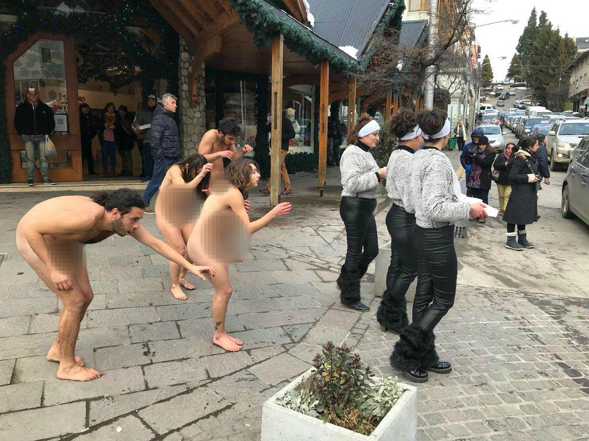 Protesta contra el G20 en Bariloche - Crédito: @PaMiguelangelpa