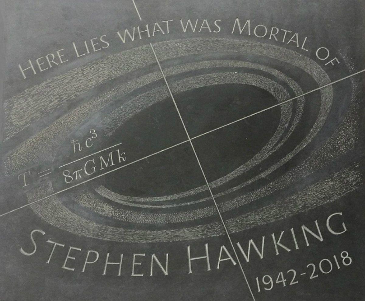 Stephen Hawking fue cremado y sus cenizas fueron depositadas junto a Darwin y Newton