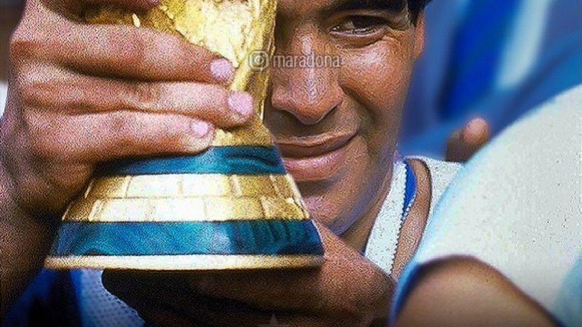 Diego Maradona en el Mundial de México - Crédito: Instagram maradona