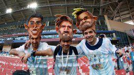 Di María y Messi, los favoritos de los hinchas
