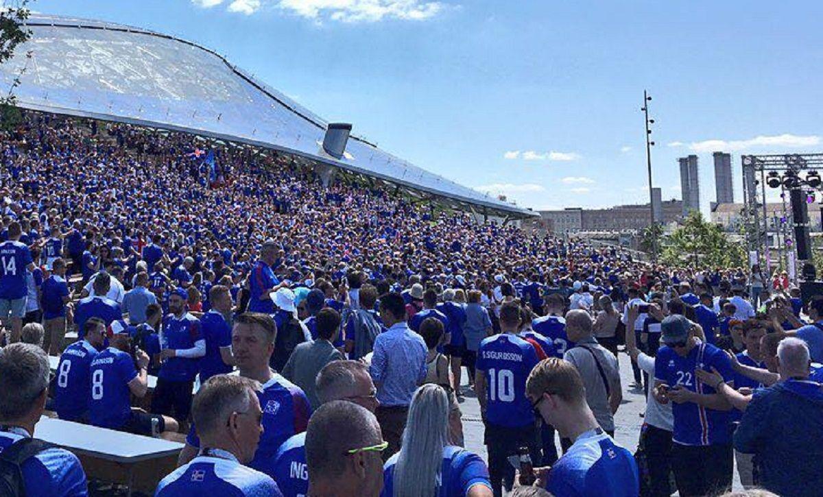 Los islandeses viven su primer Mundial