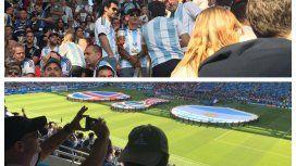 Gustavo Arribas desoyó a Macri y estuvo presenciando el primer partido de Argentina