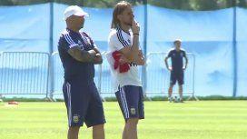 Tras su decepcionante debut, Argentina entrenó en Bronnitsy