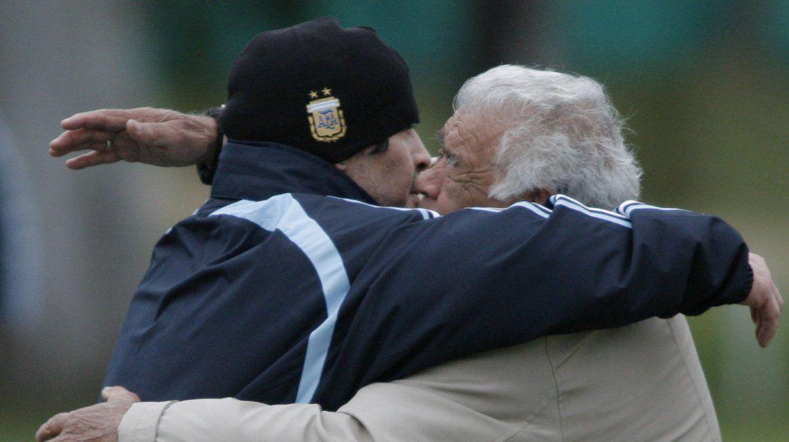 Don Diego visitaba seguido el Predio de AFA antes del Mundial 2010