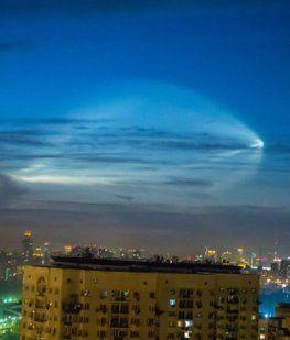 Una extraña luz en el cielo de Rusia sorprendió a los hinchas del Mundial