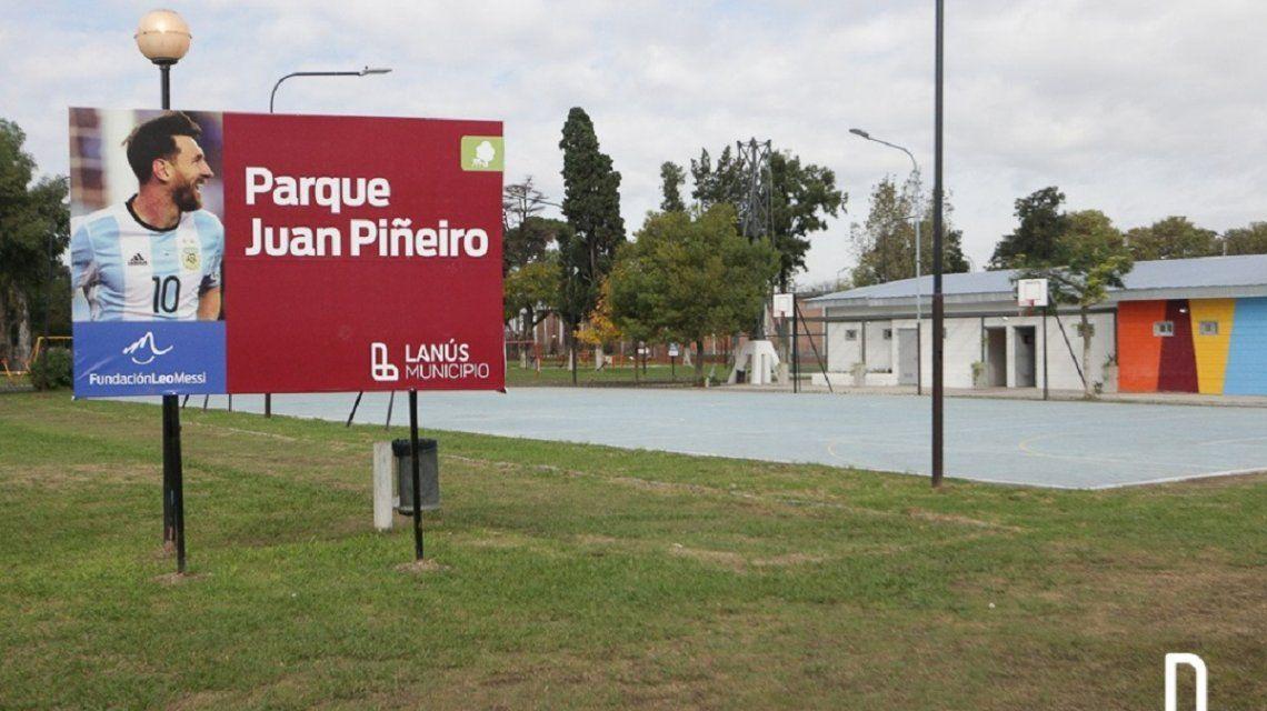Se inaugura un parque de Messi en Lanús