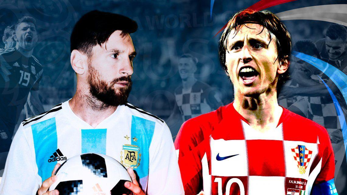 Argentina vs. Croacia por el Grupo D del Mundial: horario, formaciones y TV