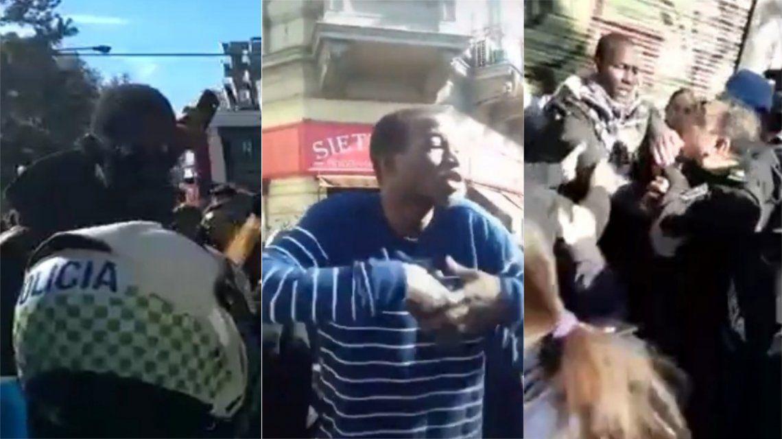 Represión a senegaleses en La Plata