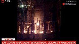 Un incendio en la usina de Dock Sud generó el apagón