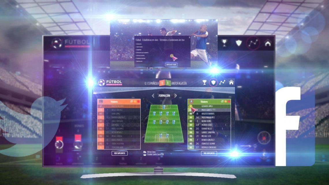 Todo desde tu Smart TV: Información de partidos, formaciones, minuto a minuto y hasta redes sociales